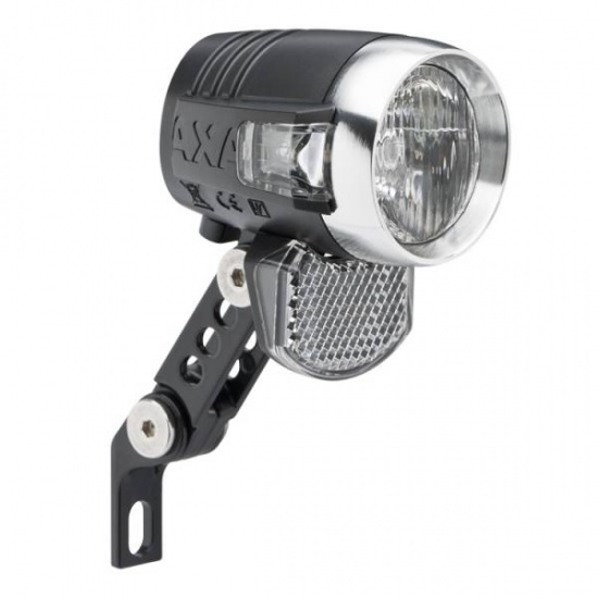 AXA Blueline koplamp 50 Lux Switch zwart