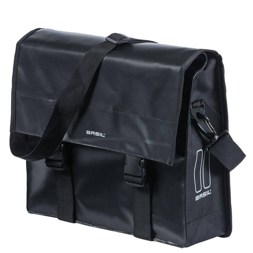 Basil Fietsschoudertas Basil Urban Load Messenger Bag 15-17 Liter - Zwart
