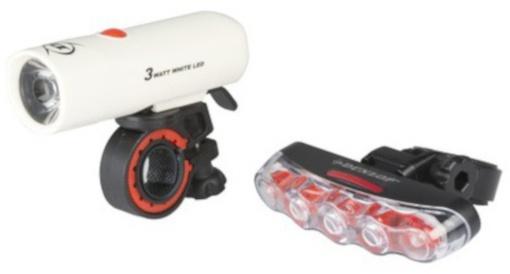Dunlop Verlichting set 1 + 5 LED zwart/wit
