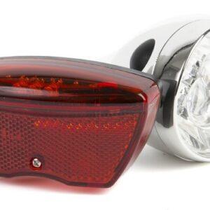 Ikzi Light - Verlichtingset Retro Led Batterij Zilver/rood