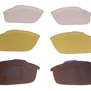 Lazer lenzenset fietsbril Argon AR2 blauw/geel/transparant