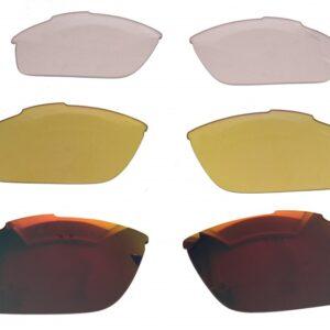 Lazer lenzenset fietsbril Argon AR2 rood/geel/transparant