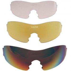 Lazer lenzenset fietsbril M1 S rood/geel/transparant