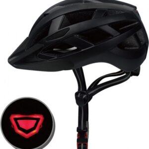 Pro Sport Lights fietshelm met verlichting unisex matzwart maat M