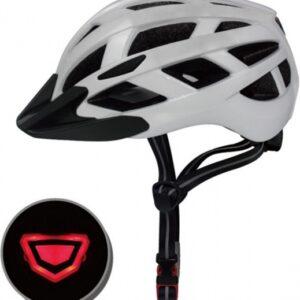 Pro Sport Lights fietshelm met verlichting unisex wit maat M