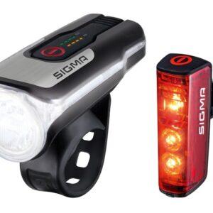 Sigma - Verlichtingsset Blaze & Aura 80 Led Usb-oplaadbaar