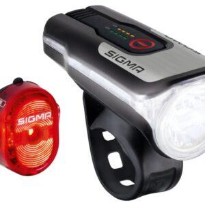 Sigma verlichtingsset Aura 80 Lux + Nugget II led oplaadbaar
