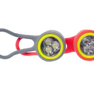 Simson verlichtingsset Simmy led batterij rood/grijs