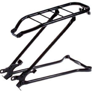 Steco bagagedrager achter met klapstandaard 28 inch mat zwart