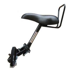 TOM fietszitje voor op buis damesfiets 2 buizen zwart