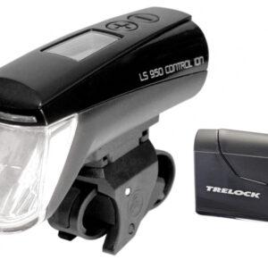 Trelock verlichtingsset LS 950 Control Ion 70 lux zwart
