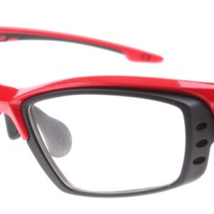 Eassun fietsbril Pro RX Montura rood/zwart helder glas