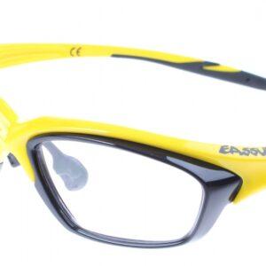 Eassun fietsbril RX helder glas montuur geel/zwart