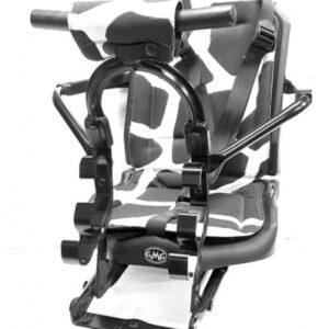 Gmg - Voorzitje T11s Black Classic 55 Cm Staal/pvc Zwart/wit