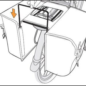 New Looxs afstandhouder dubbele fietstas zwart
