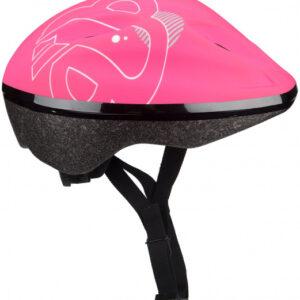 Nijdam helm Rosie Road meisjes 52 56 cm EPS/Pet zwart/roze