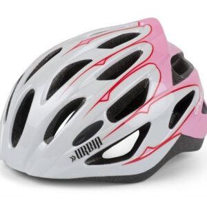 Polisport fietselm Urbia dames EPS wit/roze maat 54 59 cm