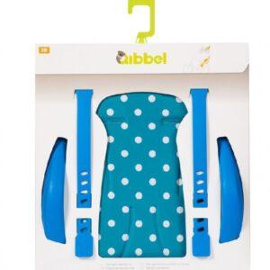 Qibbel Luxe Stylingset Fietszitje Achter Polka DOT Blauw