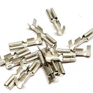 BLS koplampstekkers Tektro staal zilver 25 stuks