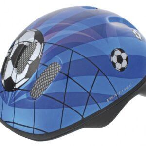 Ventura Fietshelm Soccer Blauw Maat 52/57 cm