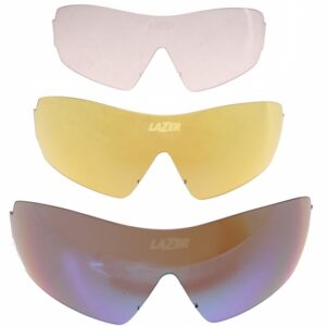 Lazer lenzenset fietsbril M1 (metalen neusstuk) 3 delig blauw