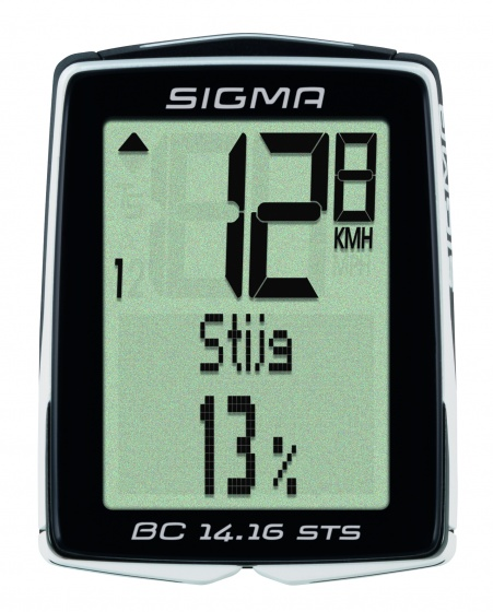 Sigma fietscomputer BC 14.16 STS zwart