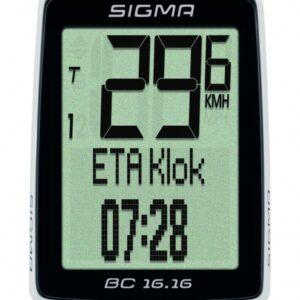 Sigma fietscomputer BC 16.16 zwart