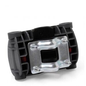 Polisport adapter achterzitje 10 cm framebevestiging zwart